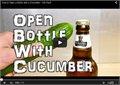 איך לפתוח בירה עם מלפפון